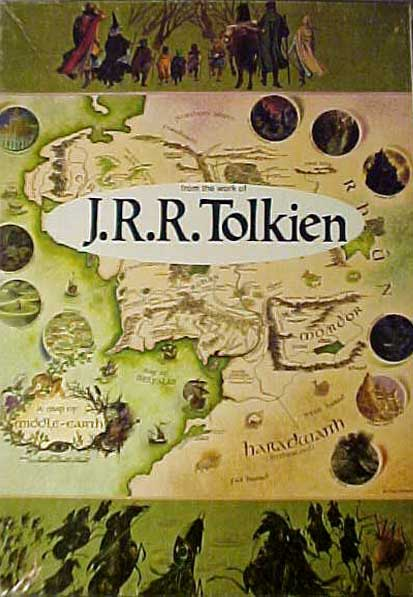 Tolkien Collectors Guide  1977 Map of Middleearth jigsaw