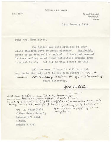 Bonhams Sale 21763 Lot 277 - Signed letter