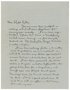 Doris Sykes Tolkien Signed Letter Page 1