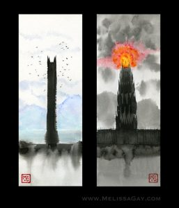 The Two Towers diptych - Melissa Gay